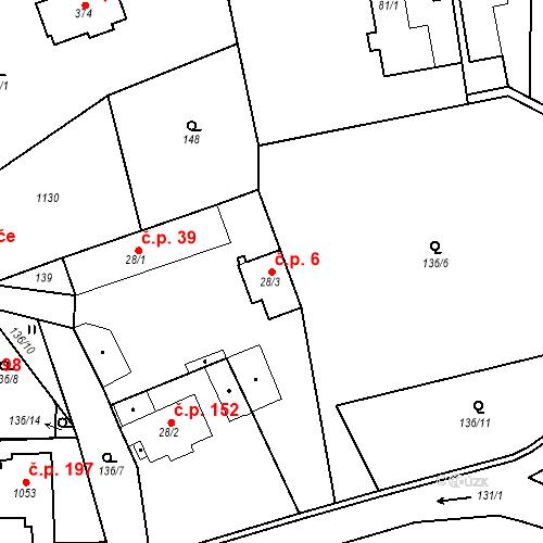 Katastrální mapa Stavební objekt Psáry 6, Psáry