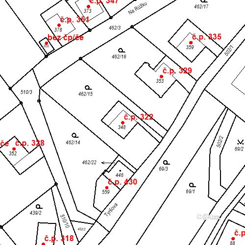 Katastrální mapa Stavební objekt Dolní Poustevna 322, Dolní Poustevna