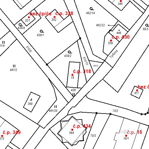Katastrální mapa Stavební objekt Dolní Poustevna 318, Dolní Poustevna