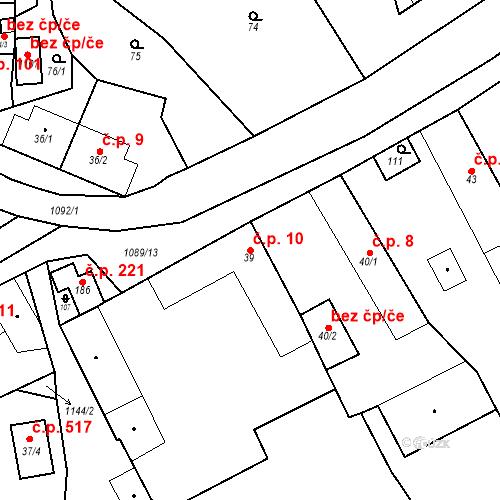 Katastrální mapa Stavební objekt Psáry 10, Psáry