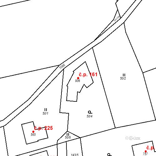 Katastrální mapa Stavební objekt Psáry 161, Psáry