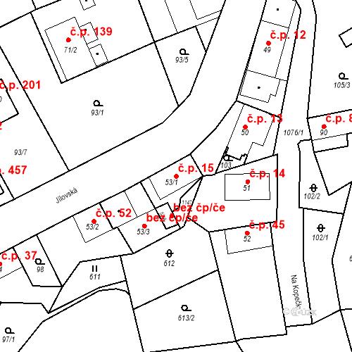 Katastrální mapa Stavební objekt Psáry 15, Psáry