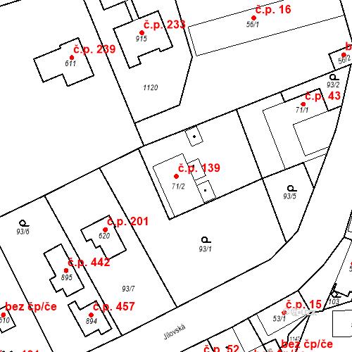 Katastrální mapa Stavební objekt Psáry 139, Psáry