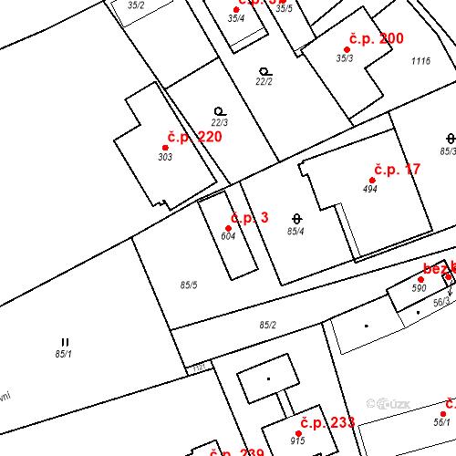 Katastrální mapa Stavební objekt Psáry 3, Psáry