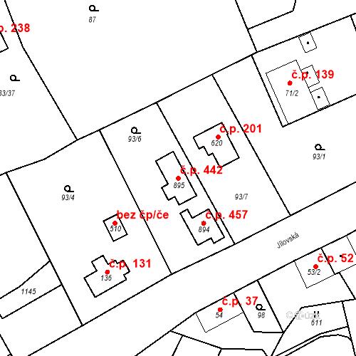 Katastrální mapa Stavební objekt Psáry 442, Psáry