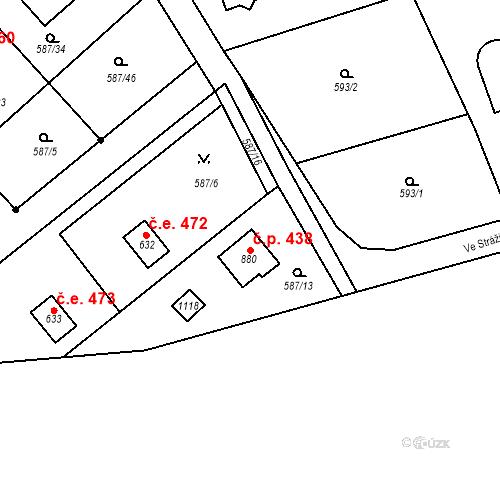 Katastrální mapa Stavební objekt Psáry 438, Psáry