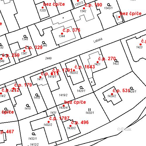 Katastrální mapa Stavební objekt Kunratice 1643, Praha