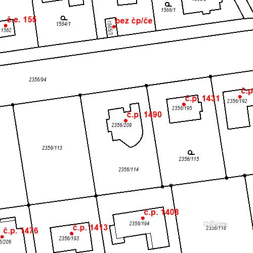 Katastrální mapa Stavební objekt Kunratice 1490, Praha