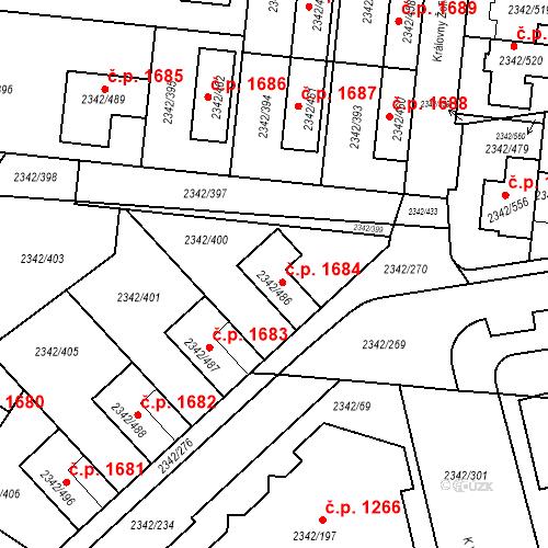 Katastrální mapa Stavební objekt Kunratice 1684, Praha