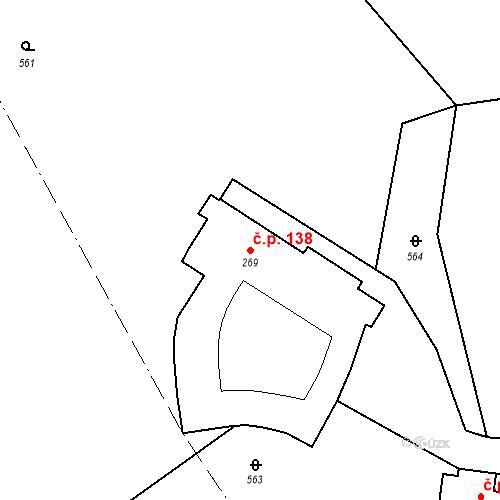 Katastrální mapa Stavební objekt Psáry 138, Psáry