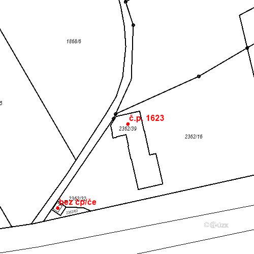 Katastrální mapa Stavební objekt Kunratice 1623, Praha