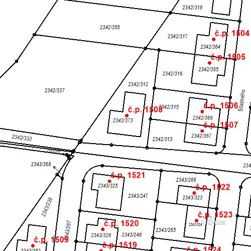 Katastrální mapa Stavební objekt Kunratice 1508, Praha