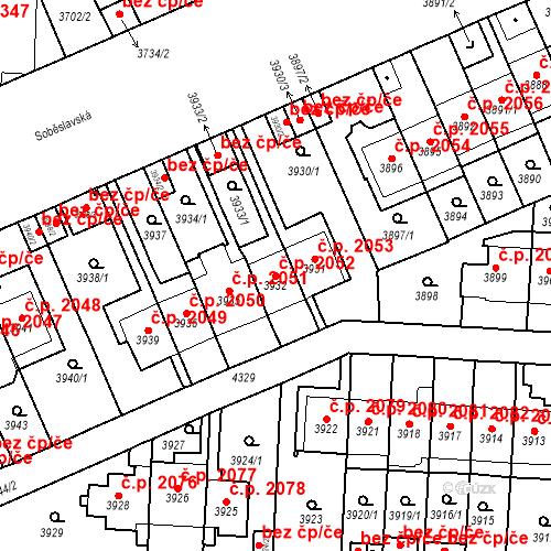 Katastrální mapa Stavební objekt Vinohrady 2052, Praha