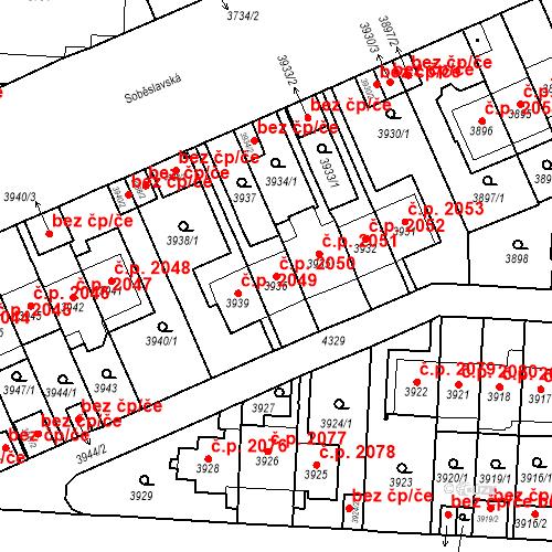 Katastrální mapa Stavební objekt Vinohrady 2050, Praha
