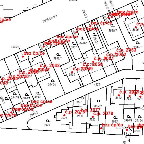 Katastrální mapa Stavební objekt Vinohrady 2049, Praha