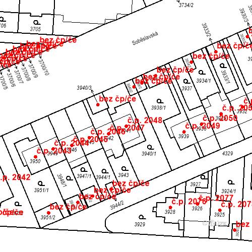 Katastrální mapa Stavební objekt Vinohrady 2048, Praha