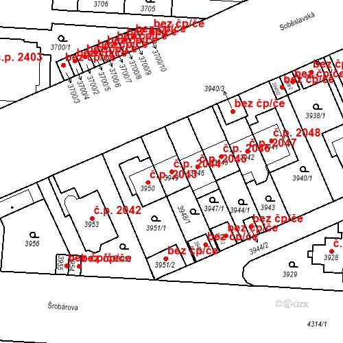 Katastrální mapa Stavební objekt Vinohrady 2044, Praha