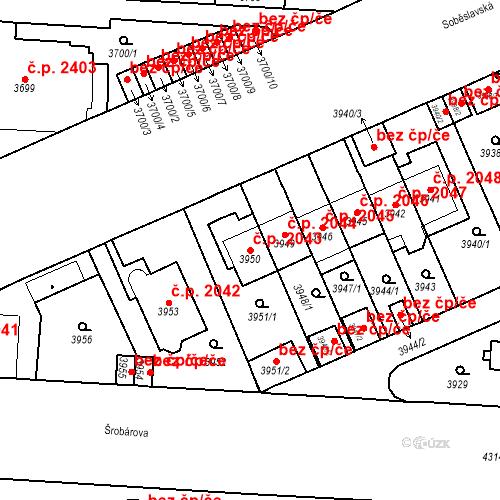 Katastrální mapa Stavební objekt Vinohrady 2043, Praha