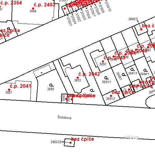 Katastrální mapa Stavební objekt Vinohrady 2042, Praha