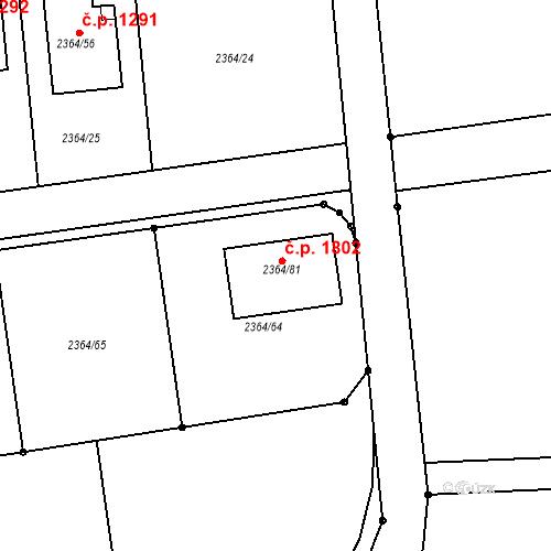Katastrální mapa Stavební objekt Kunratice 1802, Praha