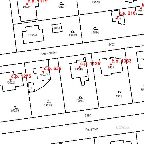Katastrální mapa Stavební objekt Kunratice 1125, Praha