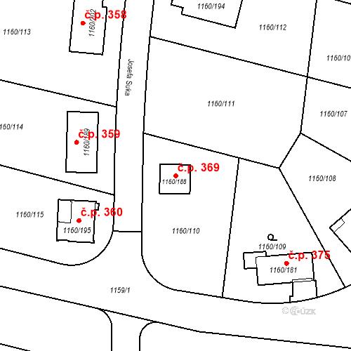 Katastrální mapa Stavební objekt Neveklov 369, Neveklov