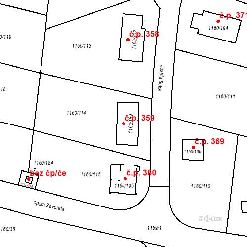 Katastrální mapa Stavební objekt Neveklov 359, Neveklov