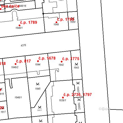 Katastrální mapa Stavební objekt Žižkov 1775, Praha