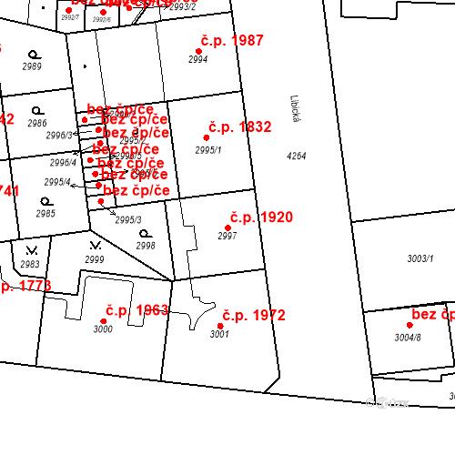 Katastrální mapa Stavební objekt Vinohrady 1920, Praha