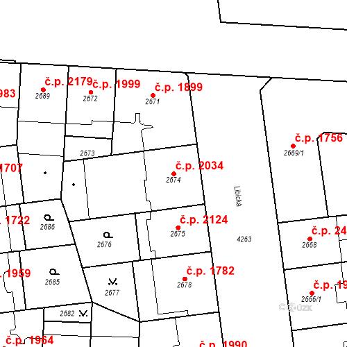 Katastrální mapa Stavební objekt Vinohrady 2034, Praha