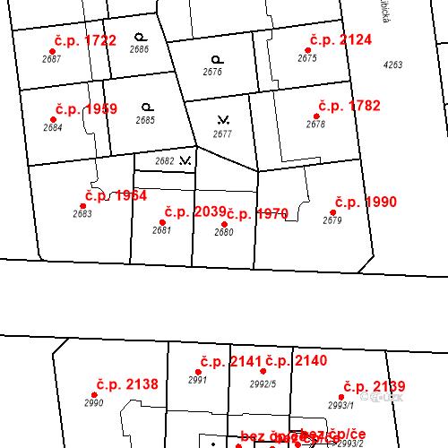 Katastrální mapa Stavební objekt Vinohrady 1970, Praha