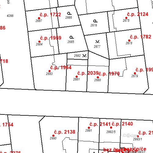 Katastrální mapa Stavební objekt Vinohrady 2039, Praha