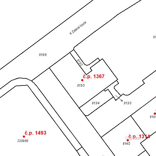 Katastrální mapa Stavební objekt Kunratice 1367, Praha