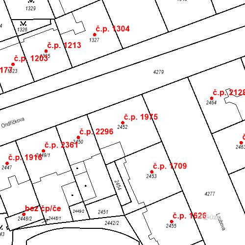 Katastrální mapa Stavební objekt Vinohrady 1975, Praha