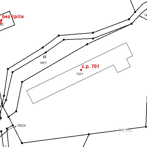 Katastrální mapa Stavební objekt Benešov nad Ploučnicí 701, Benešov nad Ploučnicí