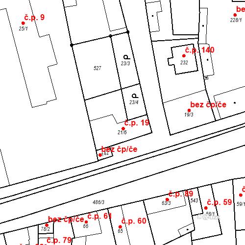Katastrální mapa Stavební objekt Hostín u Vojkovic 19, Hostín u Vojkovic