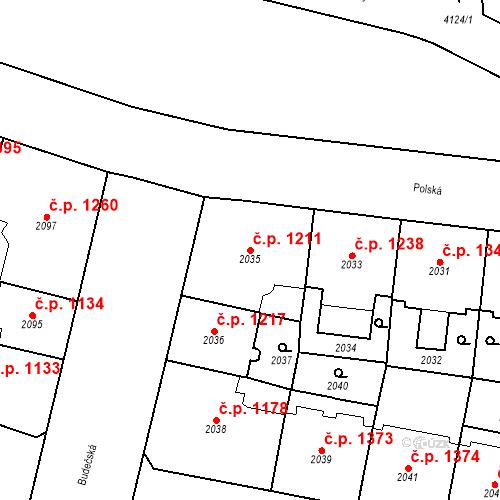 Katastrální mapa Stavební objekt Vinohrady 1211, Praha