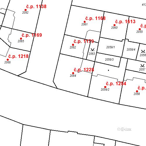 Katastrální mapa Stavební objekt Vinohrady 1228, Praha