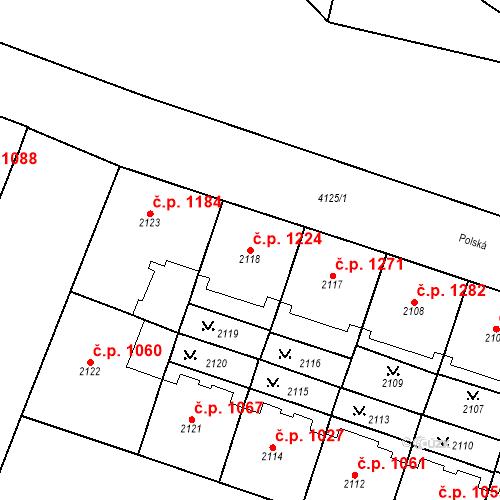 Katastrální mapa Stavební objekt Vinohrady 1224, Praha