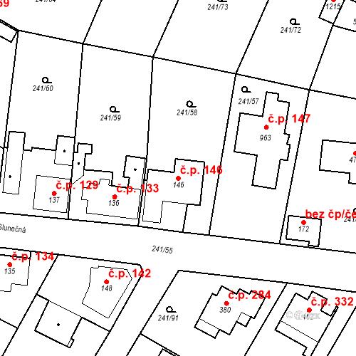 Katastrální mapa Stavební objekt Dolní Břežany 146, Dolní Břežany
