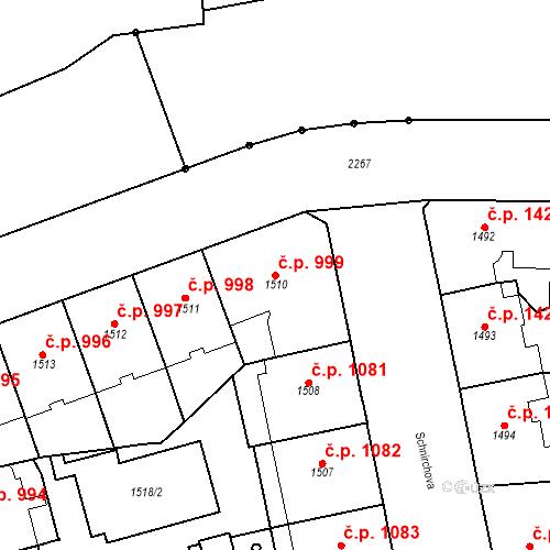 Katastrální mapa Stavební objekt Holešovice 999, Praha