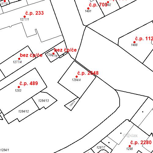 Katastrální mapa Stavební objekt Vinohrady 2548, Praha