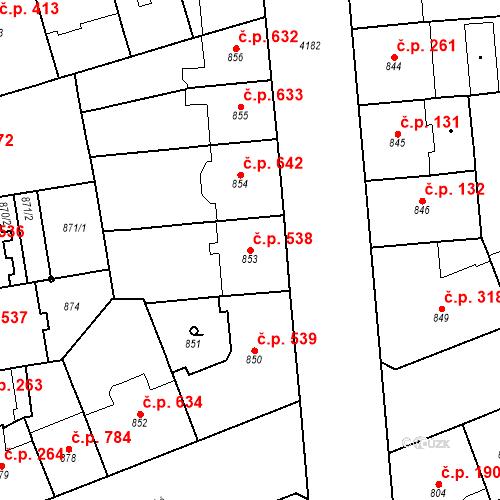 Katastrální mapa Stavební objekt Vinohrady 538, Praha