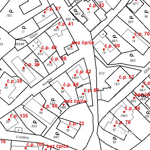 Katastrální mapa Stavební objekt Klecany 82, Klecany