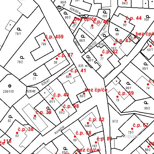 Katastrální mapa Stavební objekt Klecany 41, Klecany
