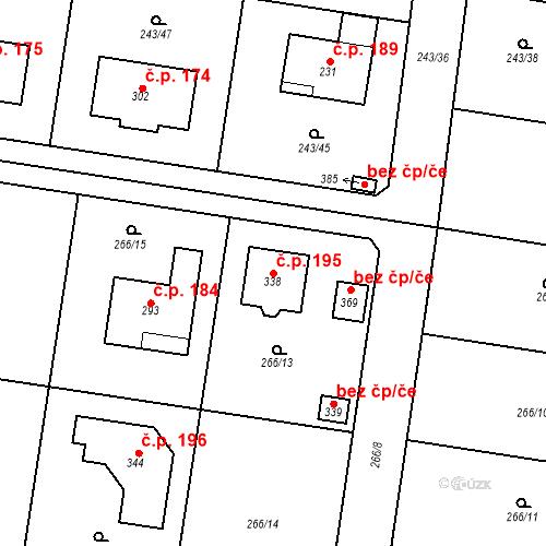 Katastrální mapa Stavební objekt Libeň 195, Libeř