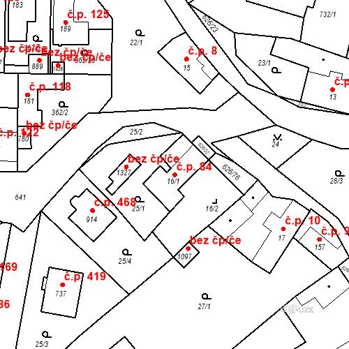 Katastrální mapa Stavební objekt Klecany 84, Klecany