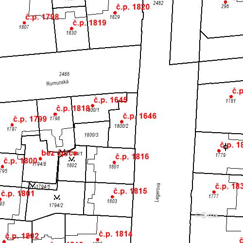Katastrální mapa Stavební objekt Nové Město 1646, Praha