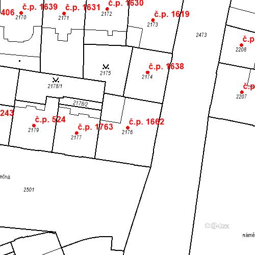 Katastrální mapa Stavební objekt Nové Město 1662, Praha