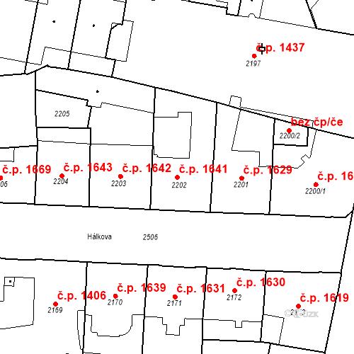 Katastrální mapa Stavební objekt Nové Město 1641, Praha